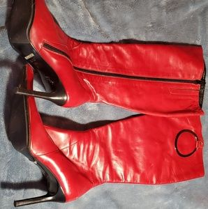 Aldo Shoes - Aldo Red Leather Knee High Boots